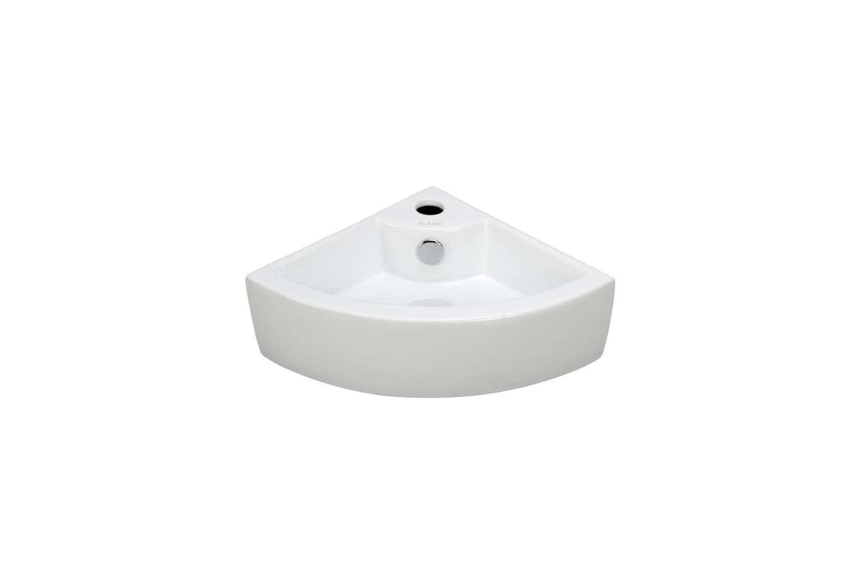 theelanti wall mounted corner bathroom sink is \$\159.98 at home depot. 15