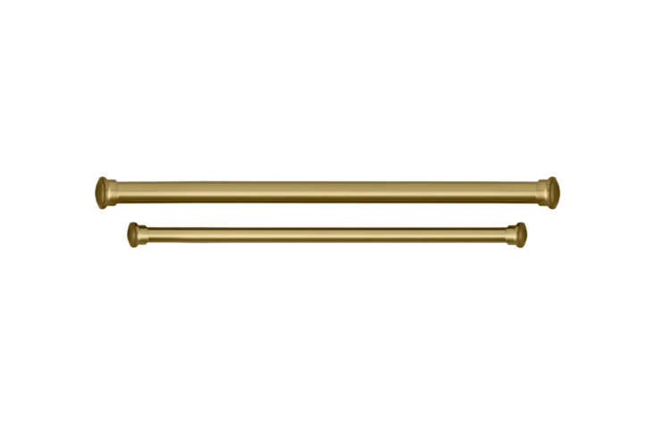 The brass curtain rod is the Estate Extension Brass Rod ($69 to $loading=
