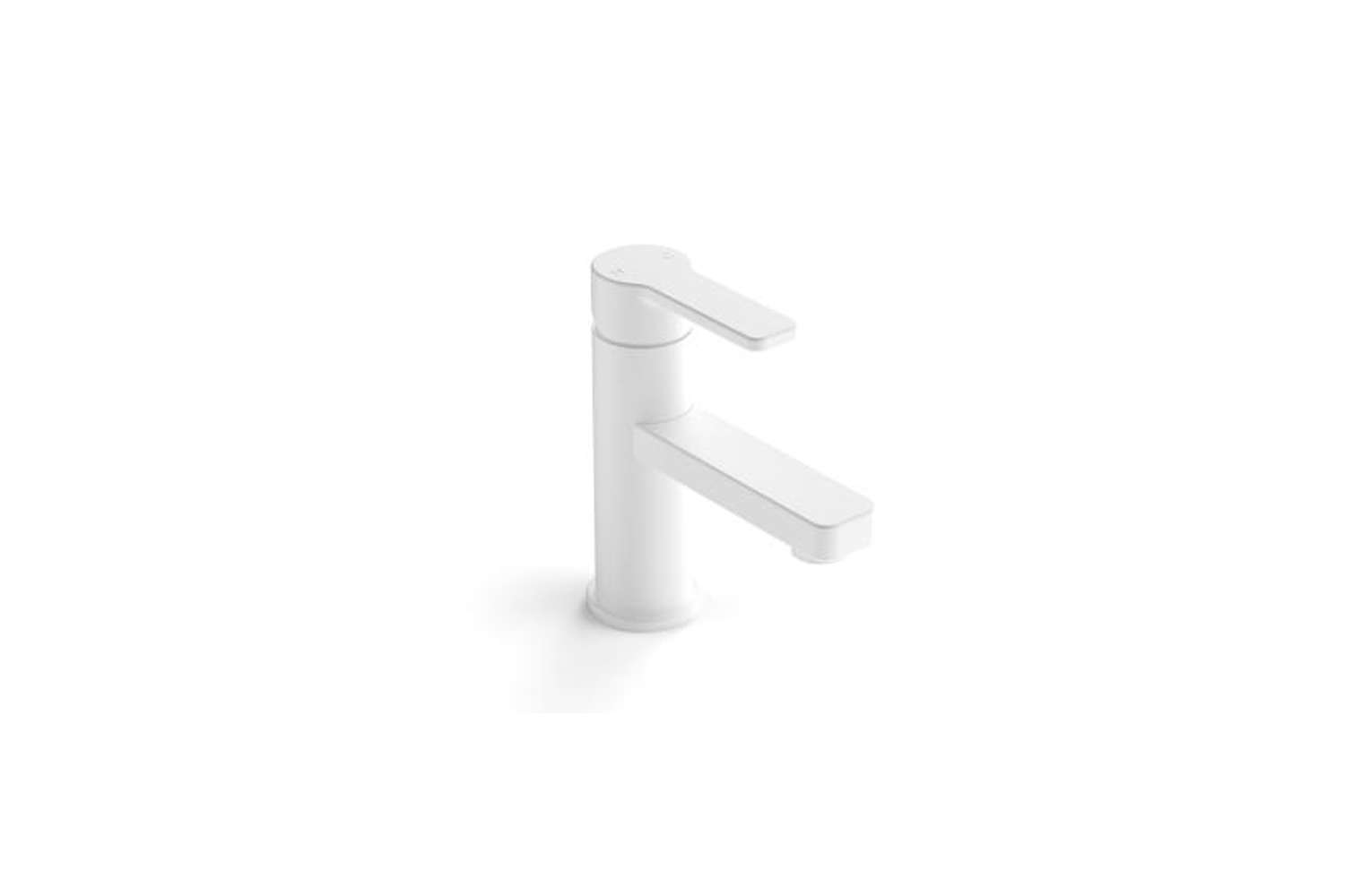 From Australian company Zeos, the Zeos 350 Basin Mixer in white-finished cast brass is available through Faucet Strommen in Australia.