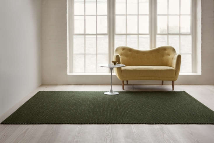 the small collection includes three hand woven rugs and two hand tufted rugs in 9