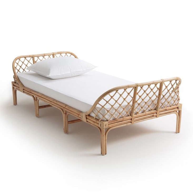 La Redoute's Katsuki Rattan Children's Bed is available in two sizes: 0 centimeters, €9, and 0 centimeters, €399, from the Socialite Family shop; mattress sold separately. Read about TSF&#8