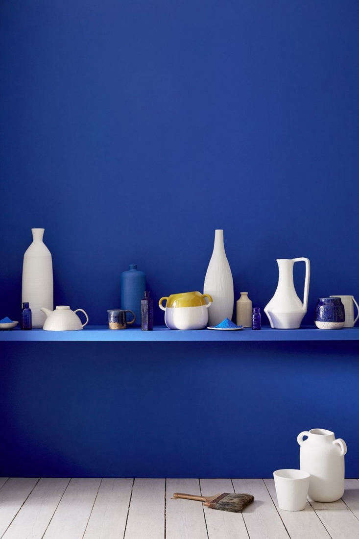 Bolt from the Blue Sightings of Yves Kleins Iconic Hue Little Greene&#8\2\17;s paint colorUltra Blue is a close match.
