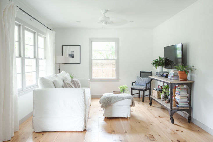 The living room, with Crate & Barrel&#8