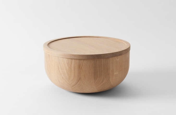 michael verheyden oak salad bowl with lid