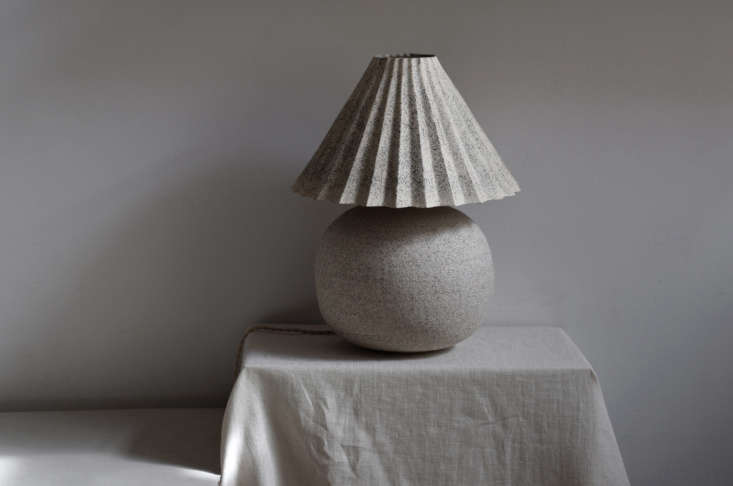 the sturdy stone lamp in black sand gets its hard sand look from &#8\2\20;a 9