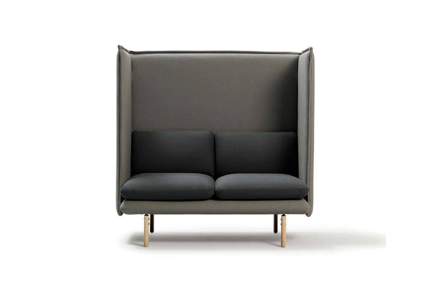 Spanish company Sancal makes the REW Highback Sofa as a single two-seater (shown), and three-seater bench. The sofa is made with an upholstered seat and high frame to &#8