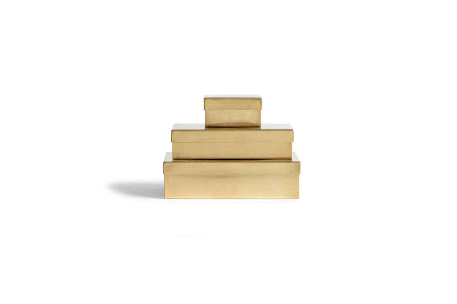 Celia often travels to Japan for work and collects objects while there, such as the SyuRo Japanese Metal Boxes in brass; $45 to $src=