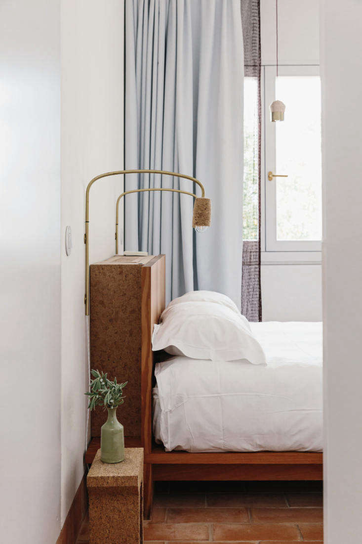 the guest bedrooms have headboards made of cork. 26