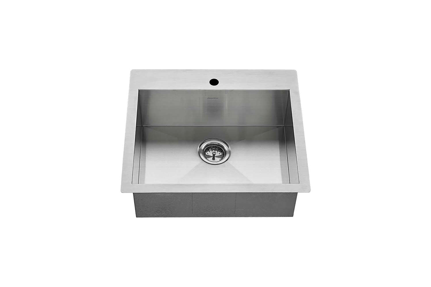 Steal This Look A Stylish Camp Kitchen in a Plywood Summer Cabin The Edgewater Stainless Steel Kitchen Sink is \25 by \2\2 inches; \$500 at American Standard.