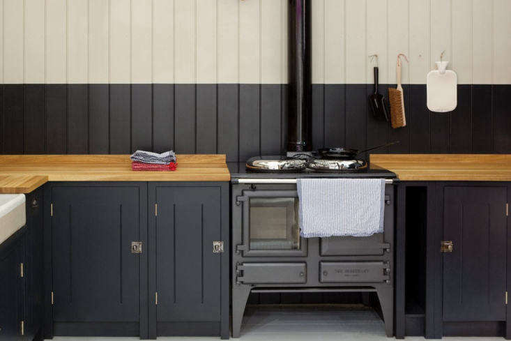 British Standard Cabinet Latches in the British Standard Ideal Kitchen. You can buy the latches à la carte from British Standard in brass, chrome, or tourmaline for £49 to £69.