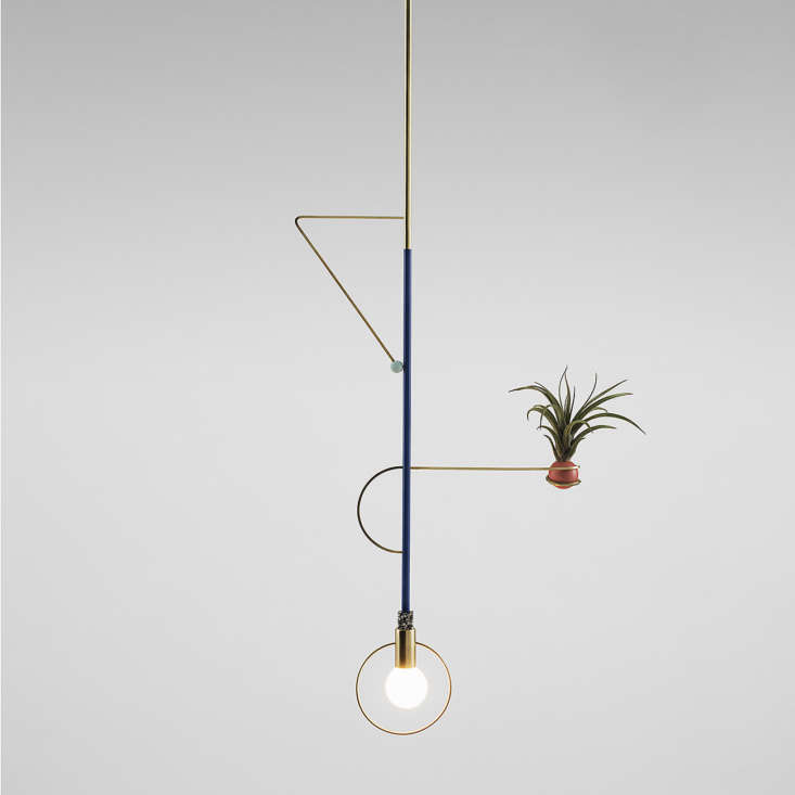 Young French designer Jean Pascal Gauthier creates balletic lights, some of which playfully incorporate plants. A website is in the works, and he reports a new collection will be available in August: Stay tuned at @JeanPascalGauthier.