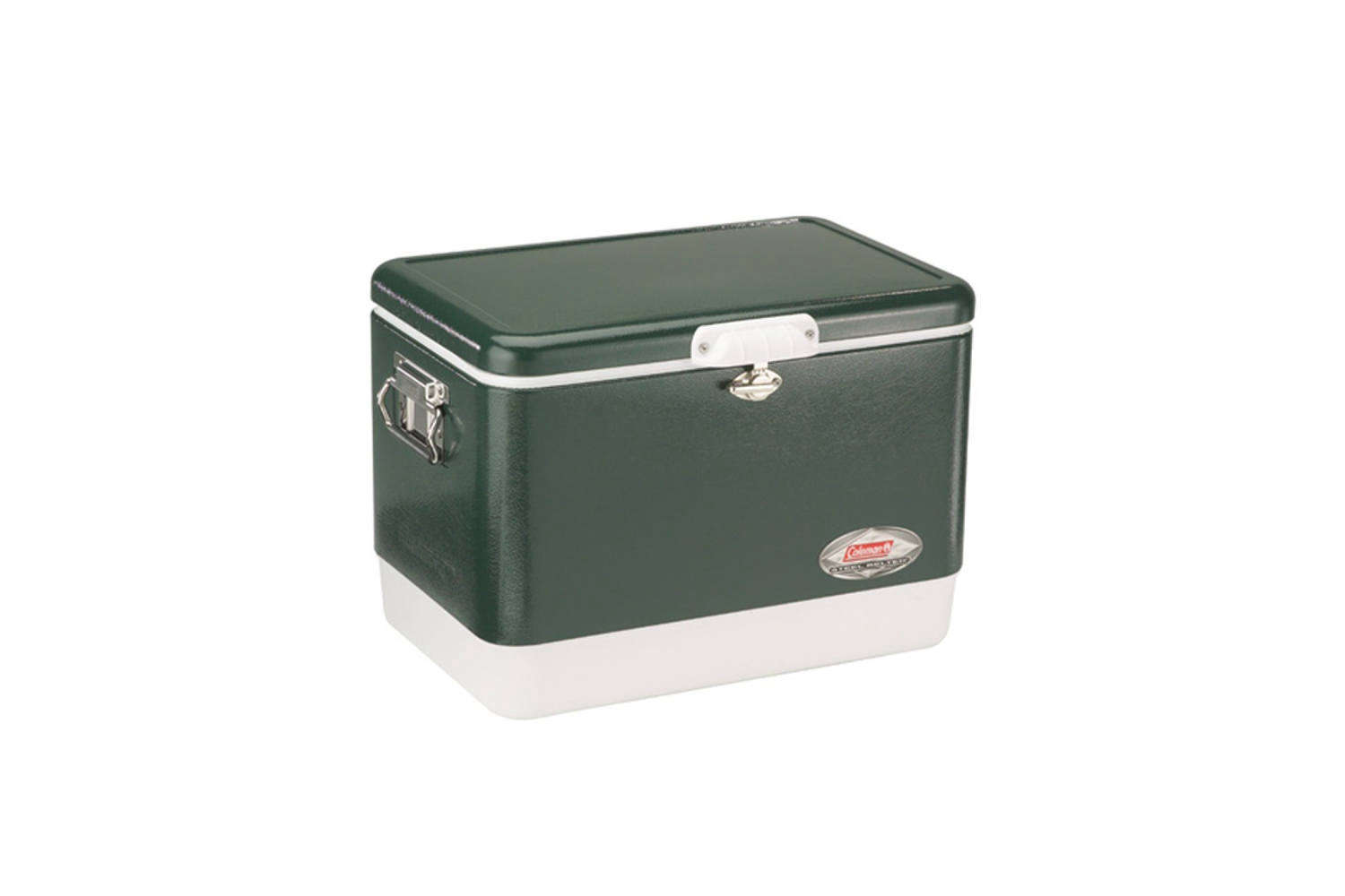 Steal This Look A Stylish Camp Kitchen in a Plywood Summer Cabin The Coleman 54 Quart Steel Belted Cooler is \$94.99 at Amazon.