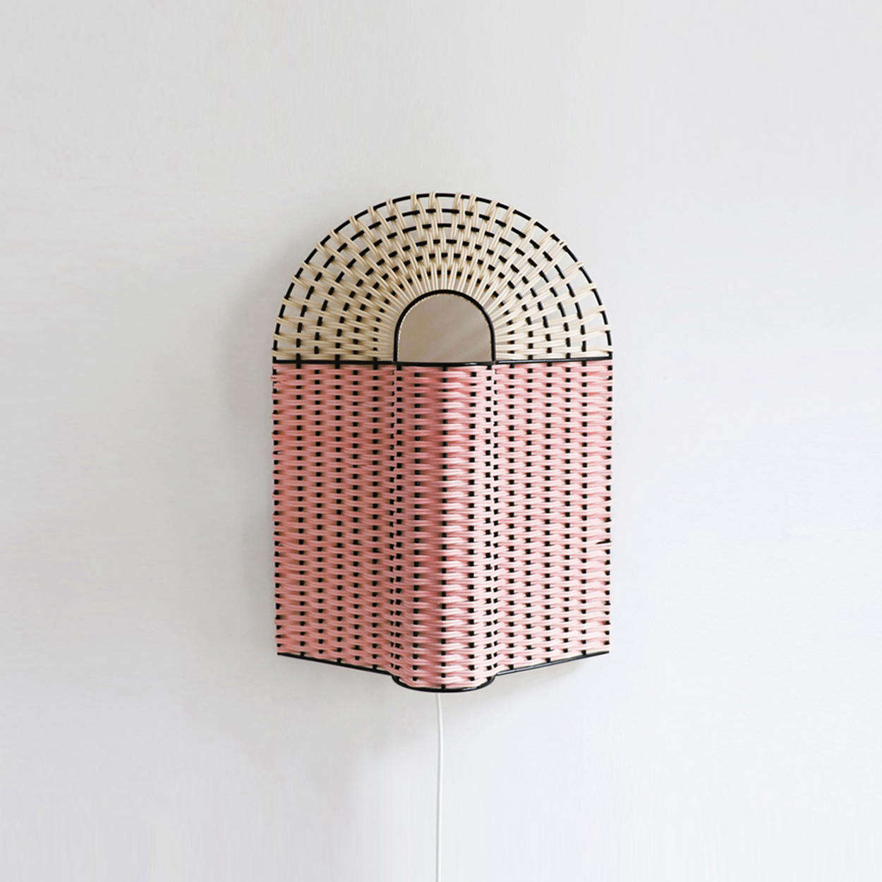 The Paon Medium Lamp in Pink and Natural is €335.