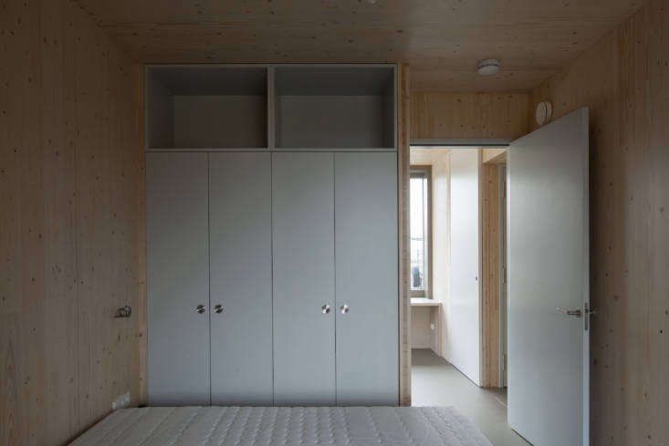 Doors and the built-in cabinetry designed by the architects are all painted with Farrow & Ball&#8