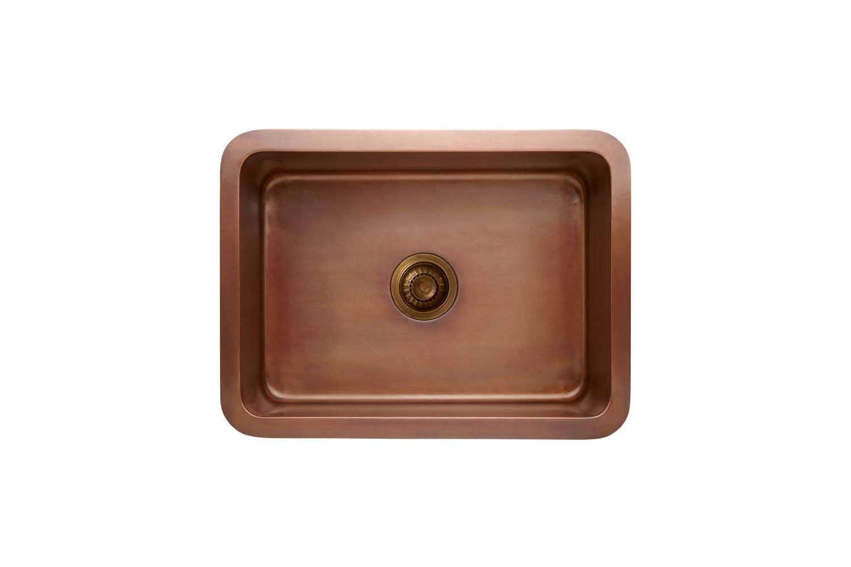 English kitchen company deVol makes a smallCopper Single Sink that&#8
