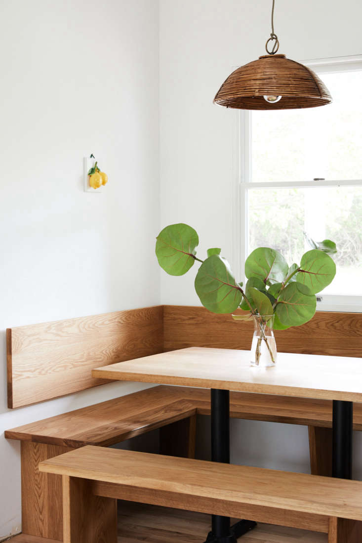 the bungalow is complete with an updated take on the \1970s breakfast nook. 11