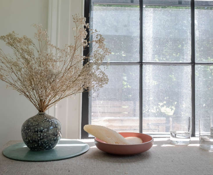 The honeycomb, set in a low bowl by Lail Design.