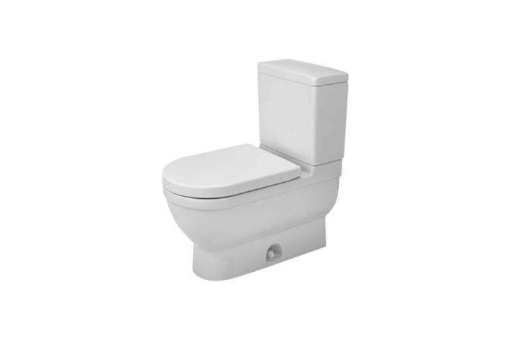 duravit&#8\2\17;s starck 3 two piece toilet has an elongated seat and sipho 12