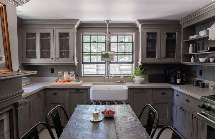 Through the dining room is the kitchen, also painted in Benjamin Moore&#8