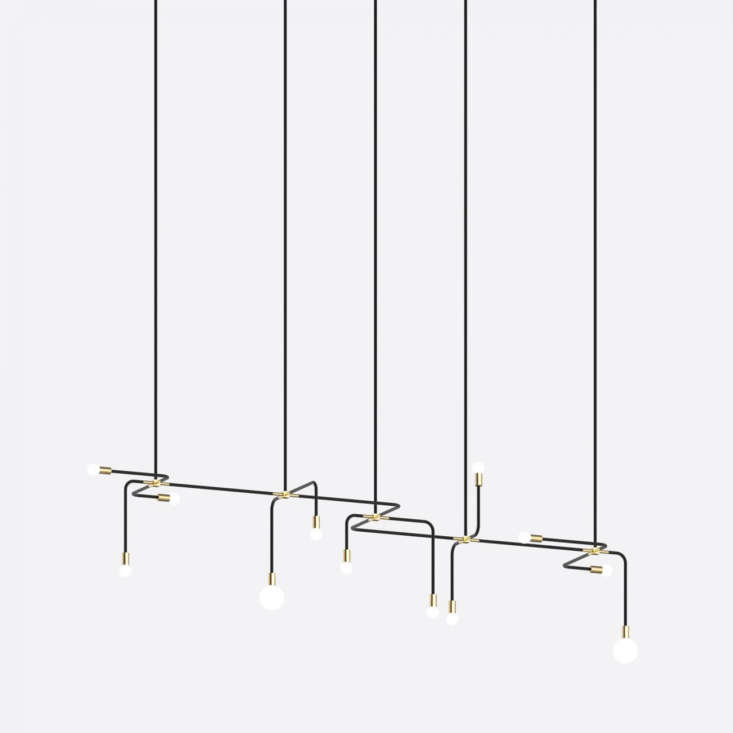From Lambert & Fils of Montreal, the Beaubien 07 is from the Beaubien Collection of powder-coated aluminum and brass lights that, though static, are all about movement. Inquire directly for details and pricing.