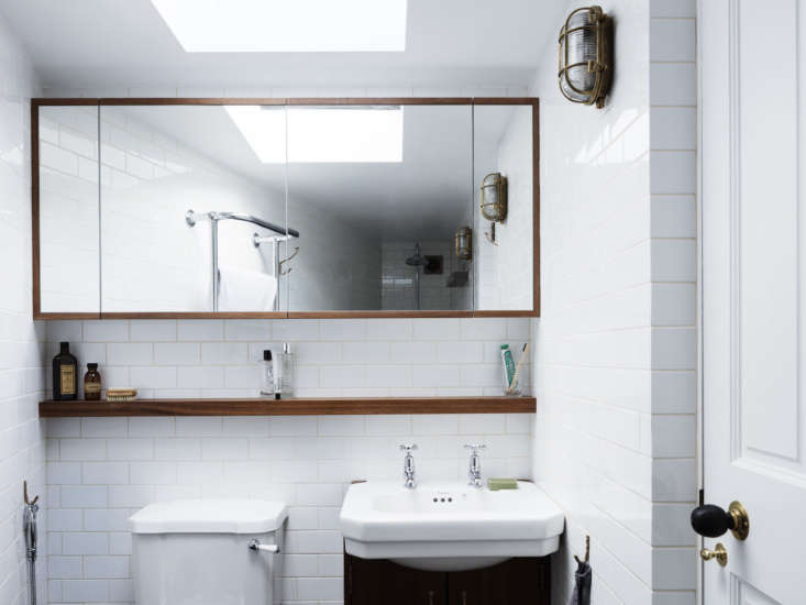 lewis inserted a bathroom by building a triangular 43 square meter extension on 16