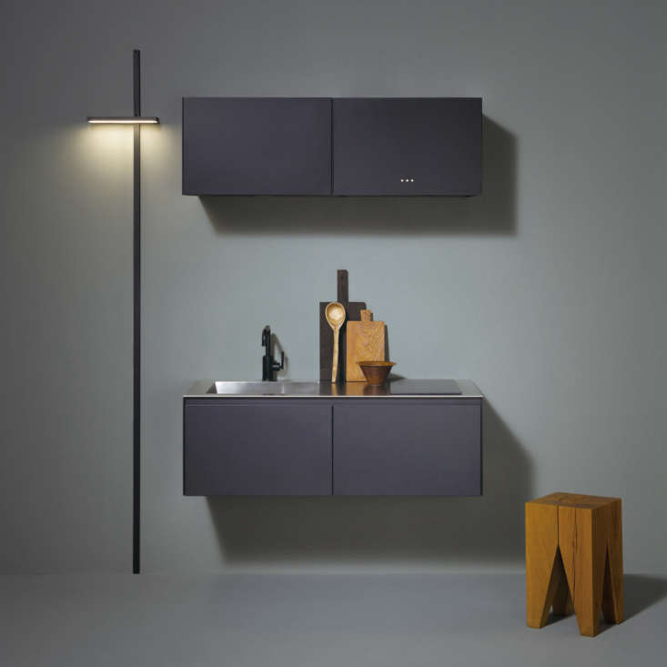 and, a complete kitchen that mounts on the wall: the sc0\1compact kitchen. 13