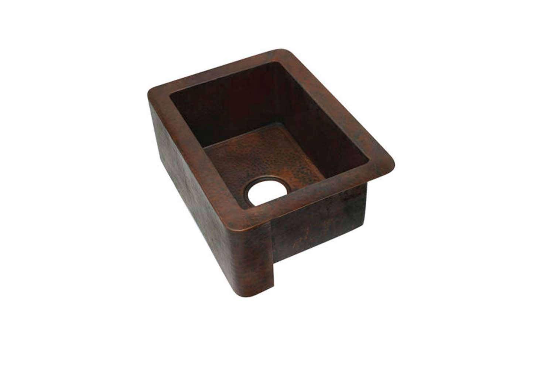 The Sierra Copper Hampton 36-Inch Apron Front Kitchen Sink is $