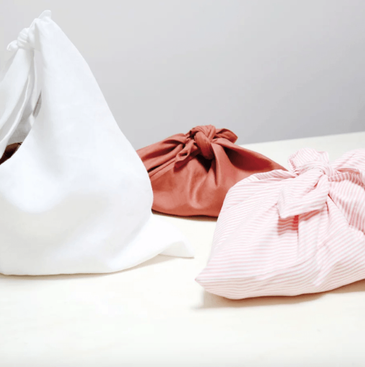Cloth Bundle Bags are made in France by a textile artist and are an all-purpose alternative to plastic, for carrying and preserving bread, fruits, vegetables, herbs, and more. (&#8