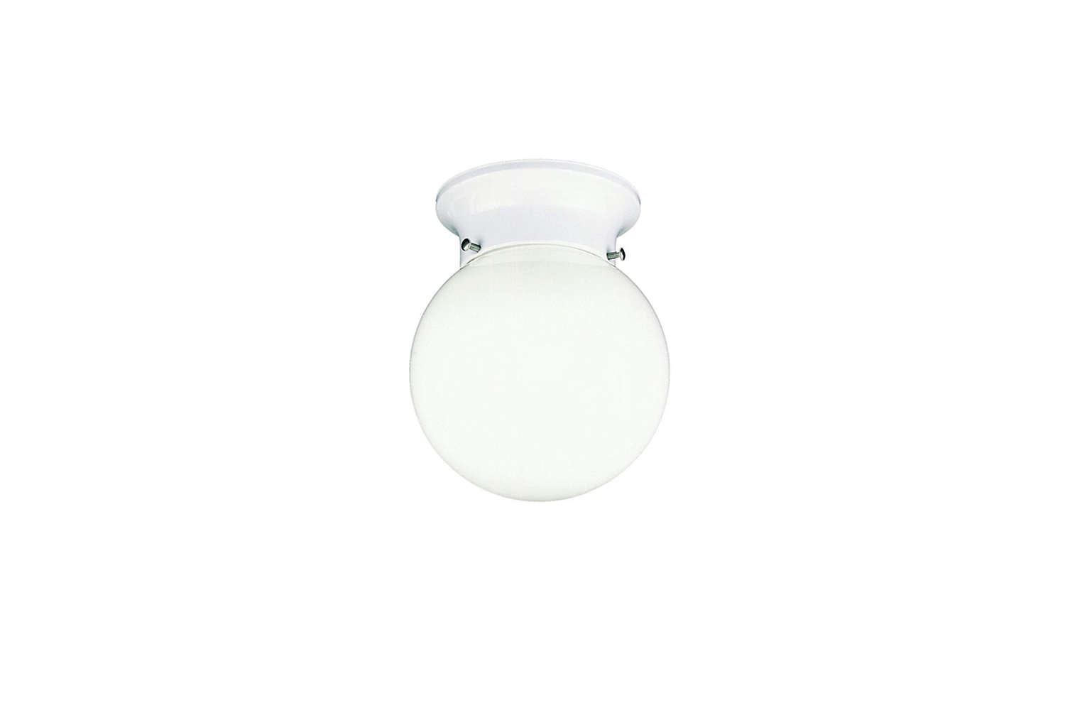 Another budget option is the simple Essentials Ceiling Light Matte White; $.99 at Amazon.