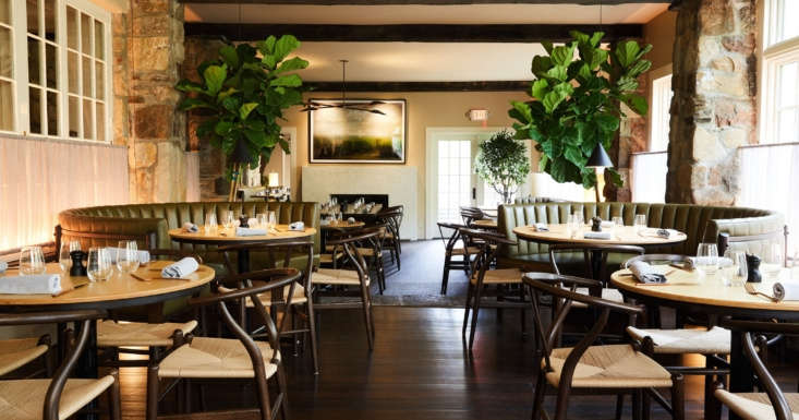The Troutbeck Restaurant serves American farm-to-table cuisine sourced from local farms and purveyors from the Hudson Valley.