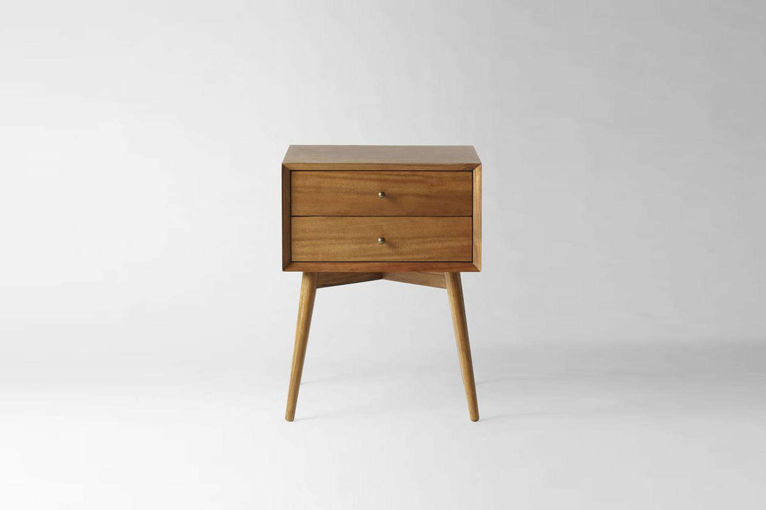 a similarmid century nightstand in an acorn colored finish is \$\299 at west  13