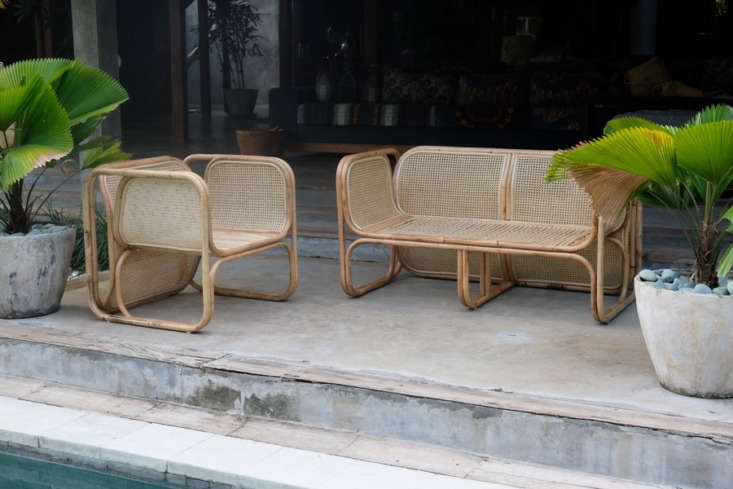 Above, L to R: The Cane Lounger is $849AUD and the Deux Cane Lounger is $loading=