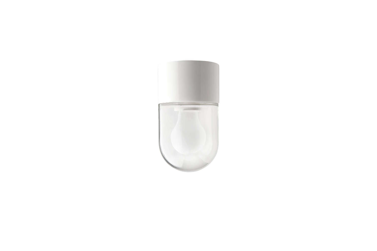 Belgian company Zangra makes a simple White Porcelain Lamp that comes with a frosted, clear, or opal glass shade; €3loading=