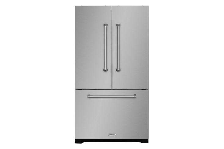 Steal This Look A SemiCustom Kitchen in Brooklyns Sunset Park The Aga Professional Series 36 Inch Counter Depth French Door Refrigerator is \$3,899 at AJ Madison.