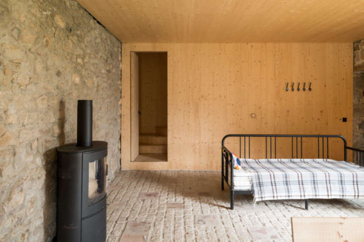 All three cottages are lined with birch-ply and fitted with underfloor radiant heating.