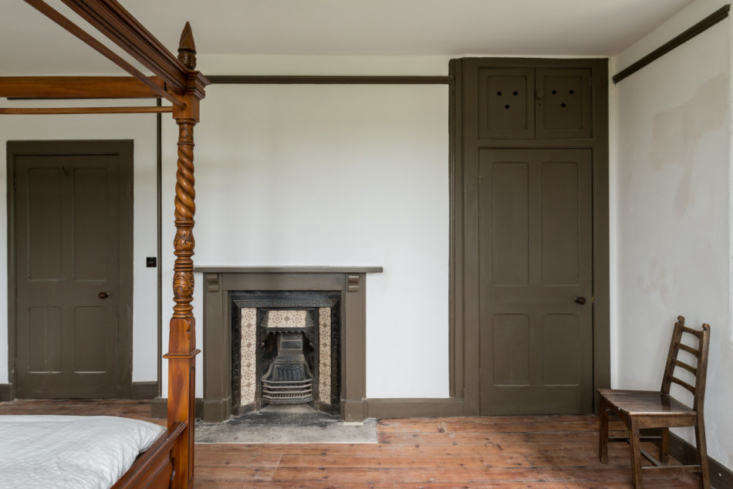 One of the six bedrooms on the second floor.The \19th-century floorboards have been stripped and restored throughout.