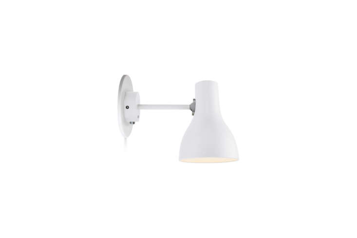 The Anglepoise Type 75 Sconce is designed Sir Kenneth Grange and available in Brushed Aluminum, Jet Black, and Alpine White; $5 at Horne.