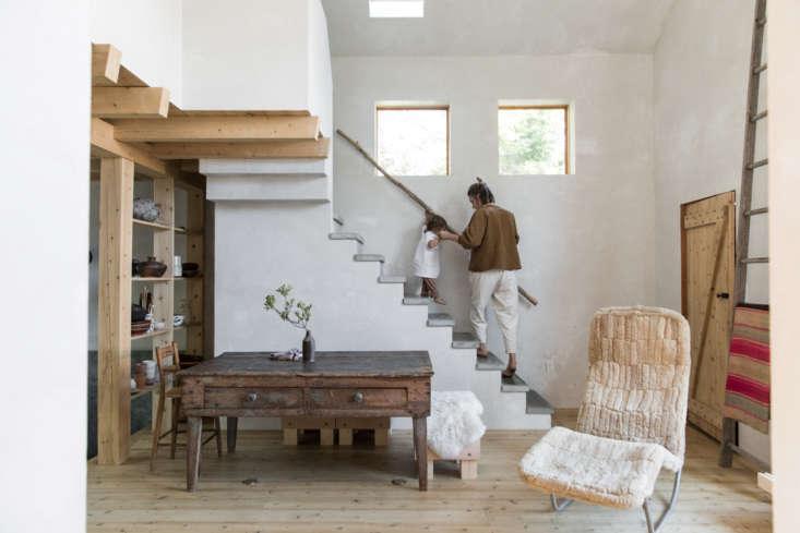 inside, the house is small but economical with space. 10