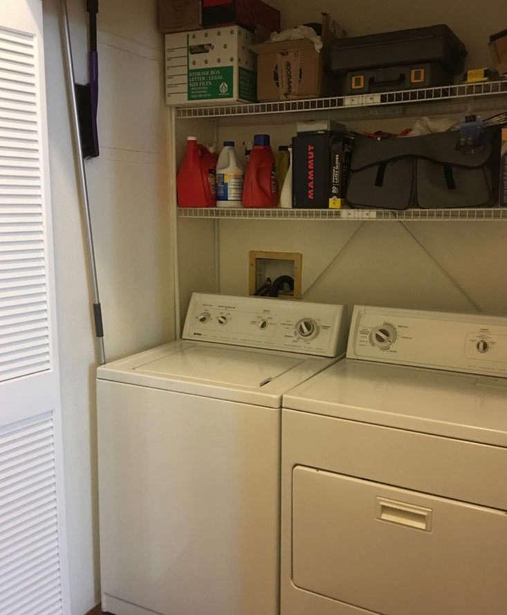 before laundry closet