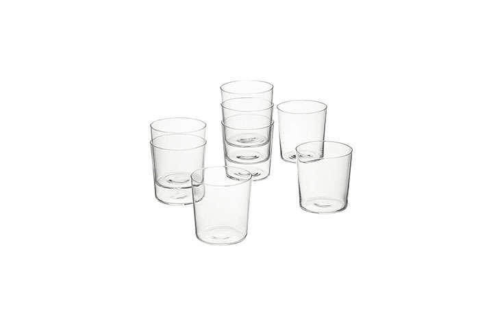 Impossibly thin glass tumblers are another Remodelista staple for wine and water—and even though they look extremely fragile, they&#8