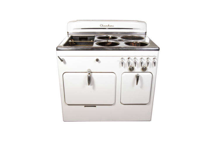 the chambers retro kitchen range in white is the vintage range at the hudson mi 19