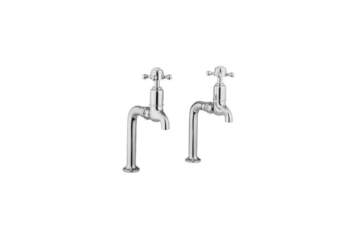 10 Easy Pieces Traditional English Kitchen Taps The Crosswater Belgravia Crosshead Bib Taps are chrome finished brass taps for £\1\24.\2\2 at QS Supplies.
