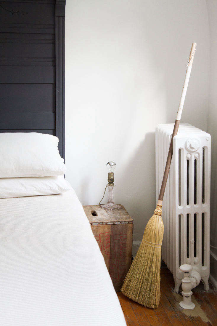 TheFabric Handle Broom is available in a choice of fabrics, including black or white silk (custom orders also available).