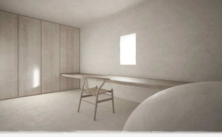 a room fully done in plaster. 10