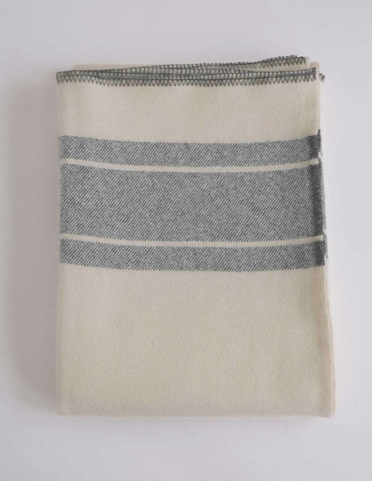 merino wool blanket in a frame classic grey from evangeline linens in maine 14