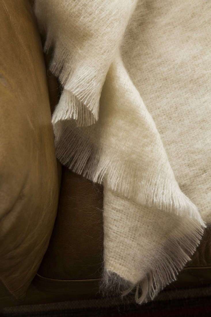 a detail of the soft mohair throw (\$\297): &#8\2\20;acherished sweater r 16