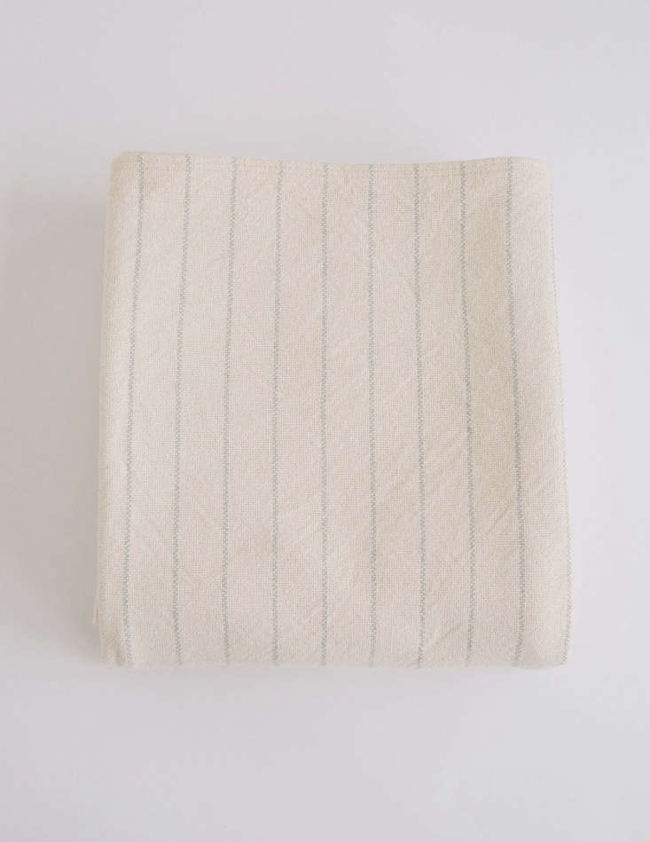pinstripe blanket in classic grey from evangeline linens in maine 11