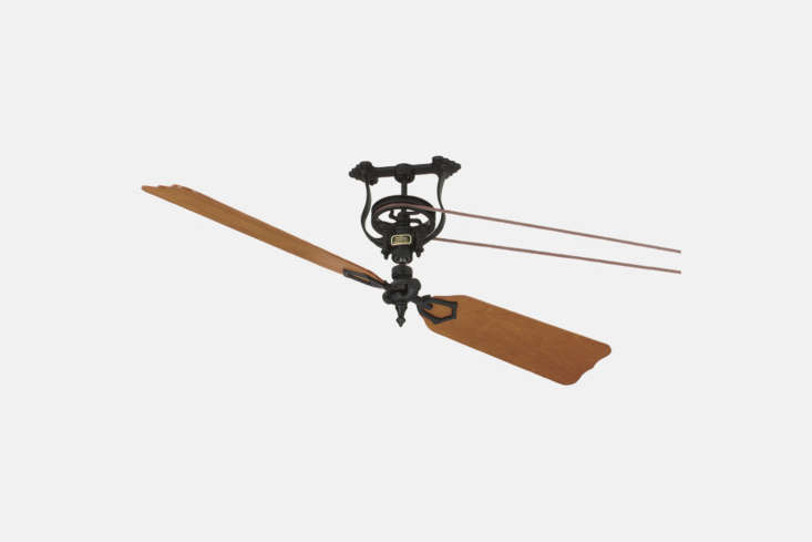 The Fanimation Brewmaster Short Neck Ceiling Fan is a classic belt-drive fan updated with modern neoprene belts over high-maintenance leather. The fan comes in natural palm leaf, oak/walnut, cherry, or rosewood blades for $730.78 from Cartwright Lighting.