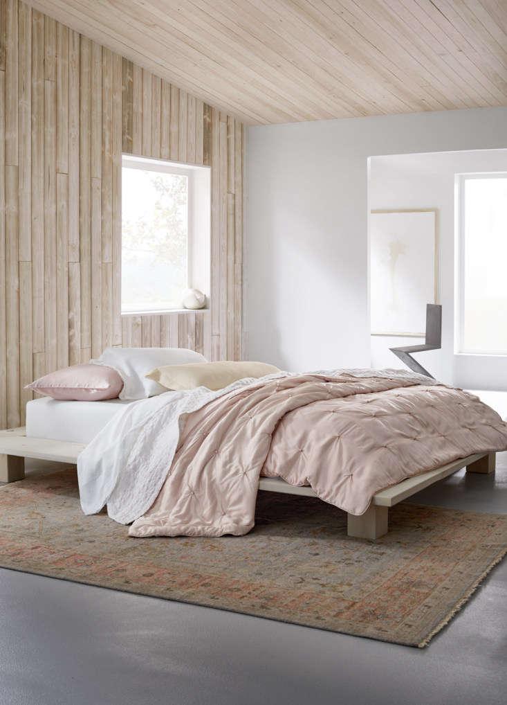 garnet hill eileen fisher home pink bed