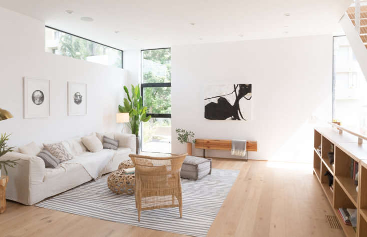 Let There Be Light Habitat 6 in Los Angeles Townhouses Designed for Brighter City Living One of the living rooms. The units can be purchased unfurnished or custom fitted by Integrated Development. Here, the couch is by B&B Italia and the chairs were sourced from DeKor in LA.